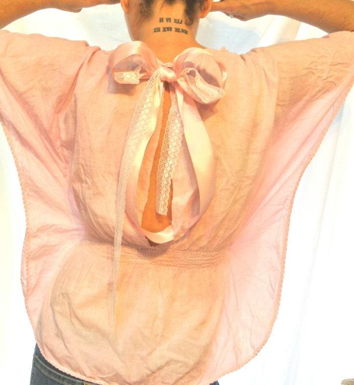 Розовый Summer Beach Boho рубашка потертый шик Лук атласной верхней французском рынке страны шикарный романтический причудливый блузка весна