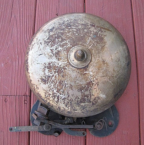 Vintage Boxing Ring Bell Antique Sports Old Iron By Great2bme