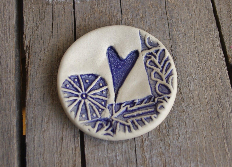 Ceramic Ring Dish, Purple Heart