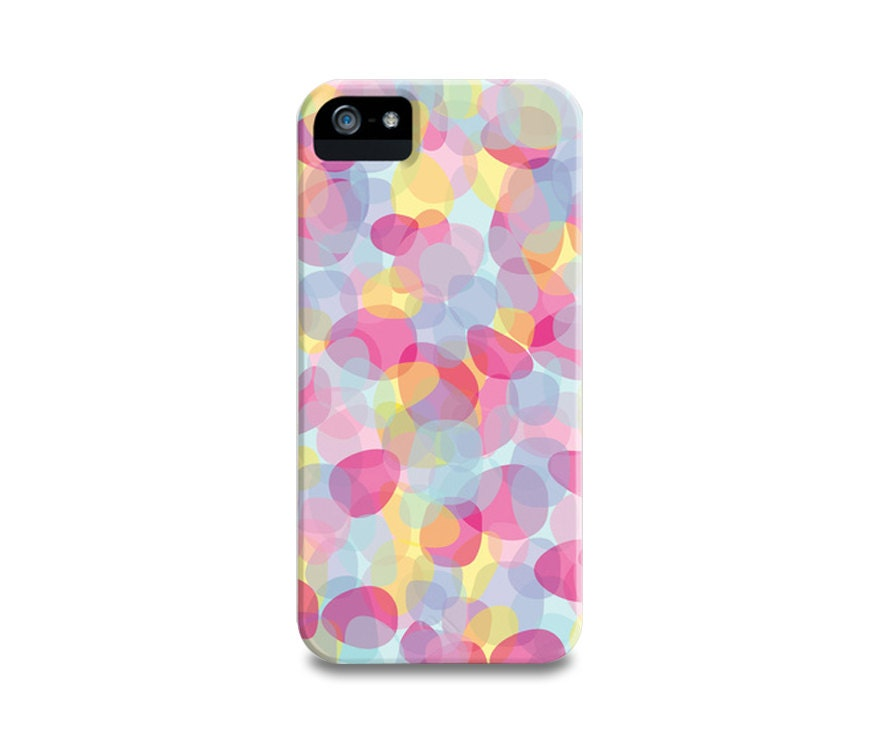 Pink Pebbles iPhone 5 Case, iPhone 4, iPhone 4S, Samsung Galaxy S4,  iPhone5 Case, iPhone Cover, Trendy Multicolor Phone Case - PrtSkin