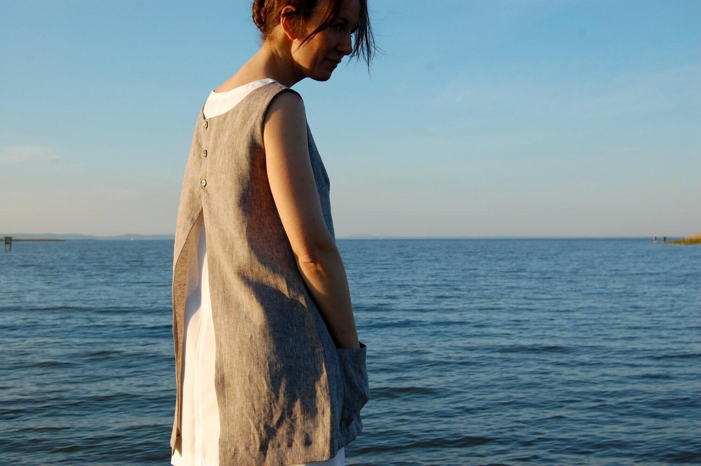 apron dress / beige