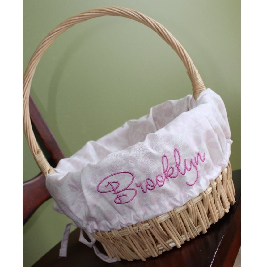 Personalized Monogrammed Easter Basket Liner Images Frompo