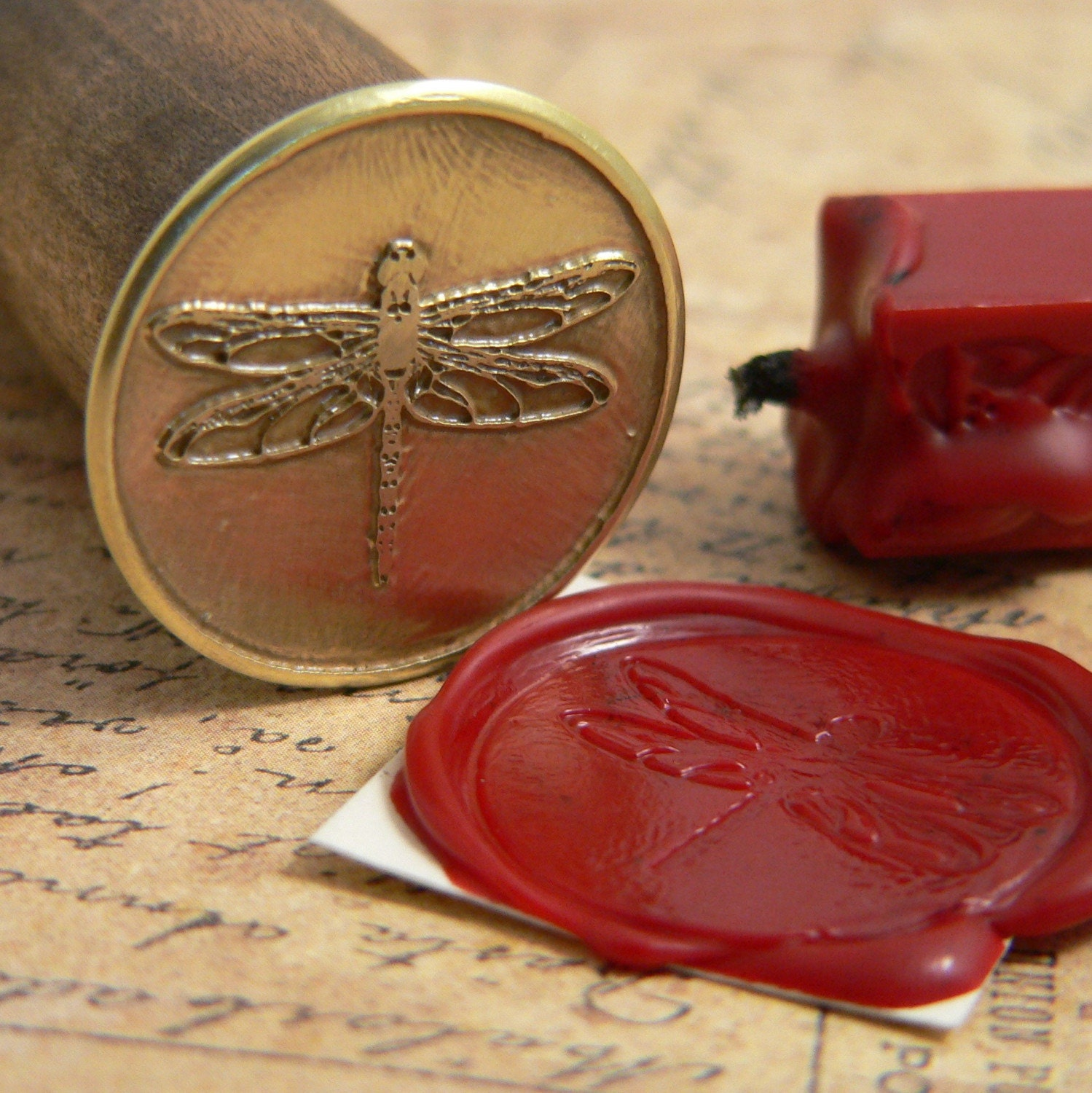 dragonfly wax seal stamp by istanbuldesigns on etsy