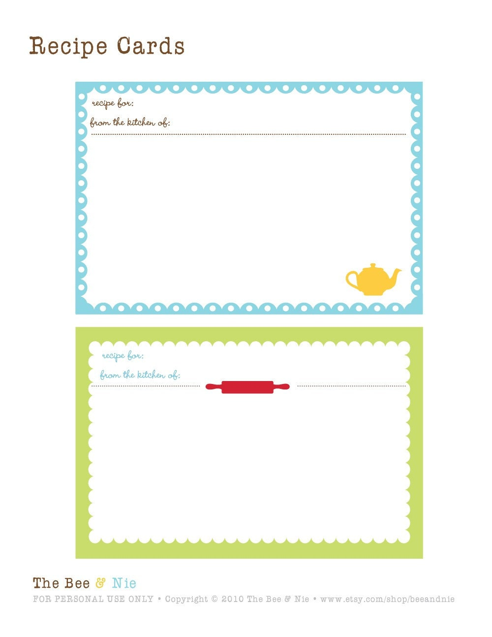 It is a picture of Amazing Printable Recipe Cards 4x6