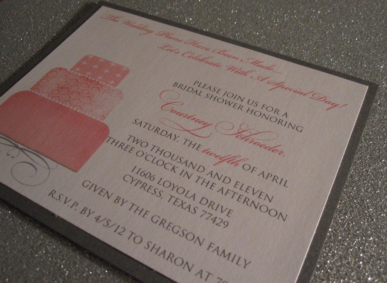 Tickled Pink Bridal Shower Invitation (Set of 25)