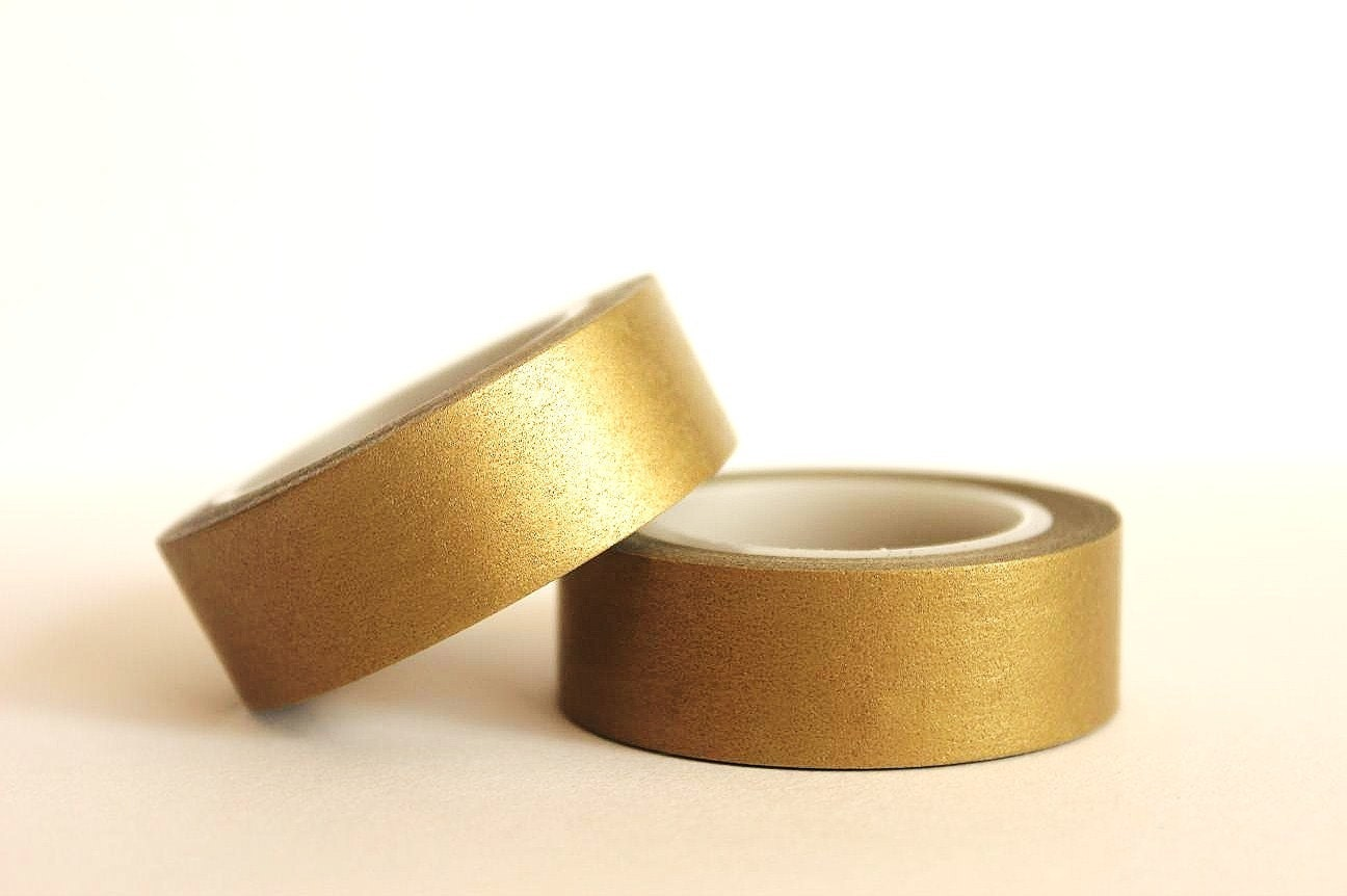 Metallic Gold Washi Tape - mooseart
