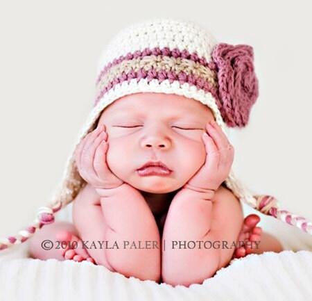 Crochet Hat Patterns Baby Girl : Crochet Hat PATTERN Photo Prop Baby Girl by BeautifulPatterns