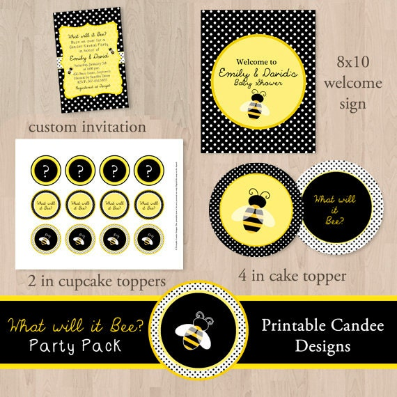 what will it bee gender reveal baby shower party package diy