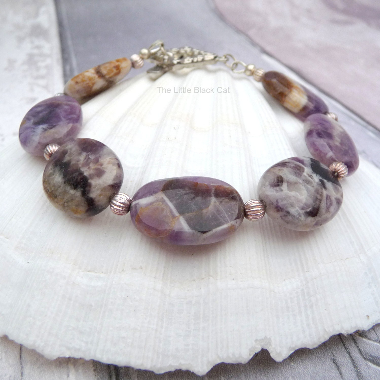 Amethyst Bracelet Purple Bracelet Gemstone Bracelet Ladies Bracelet February Birth stone Semi Precious ladies gift womens present