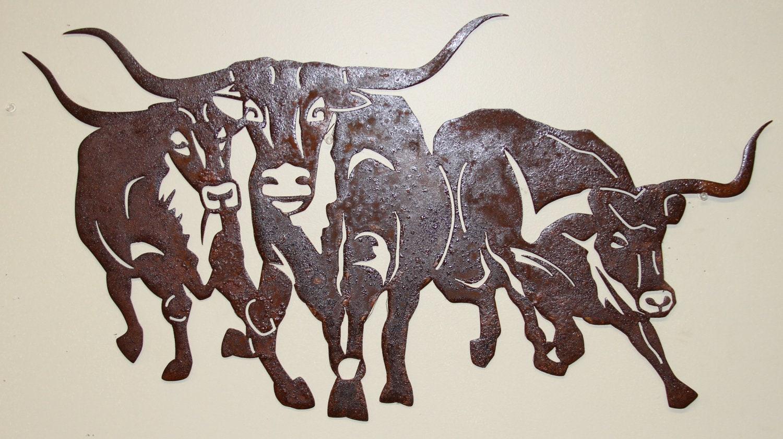 Rustic Western Wall Hanging Metal Art By Burdetteironworks