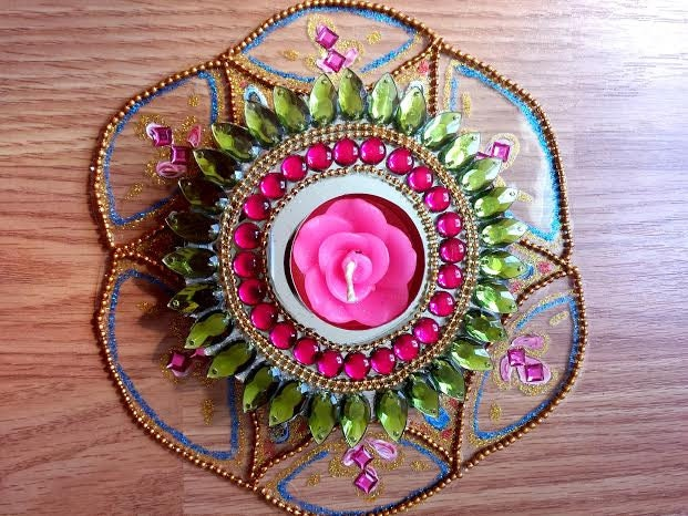 Popular items for indian decorations on etsy for Aarti dish decoration