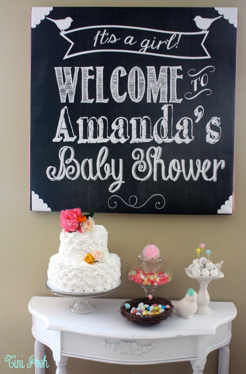 welcome baby shower sign it 39 s a girl or it 39 s a boy digital file
