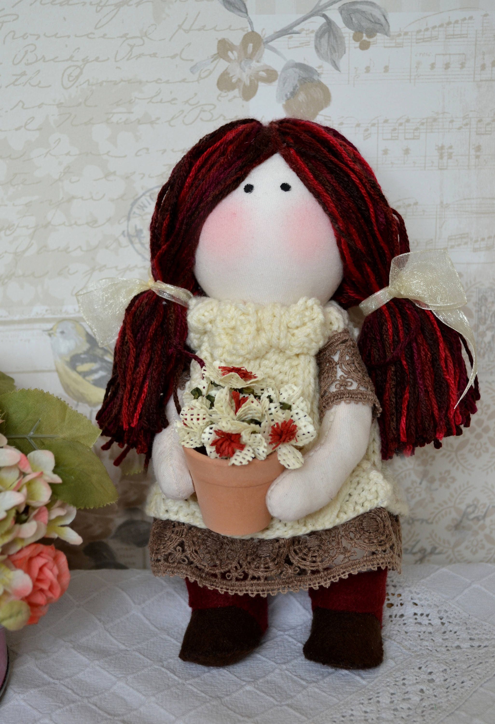 Alice Handmade collectable Lindy doll toy Russian dolls hand stitched personalise cloth craft
