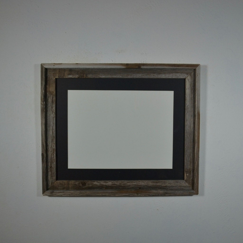 16x20 Reclaimed Wood Frame With Mat For 11x14 Or By Barnwood4u