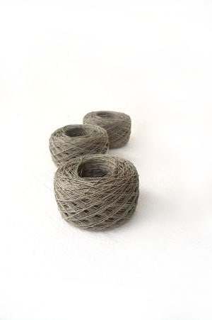 3 balls of Linen Yarn, linen thread, natural linen, linen, grey - YarnStories