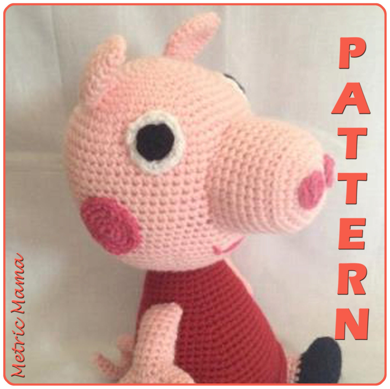 Peppa Pig Amigurumi Crochet : Peppa Pig 14 Amigurumi Crochet Plushie by MetricMama on Etsy