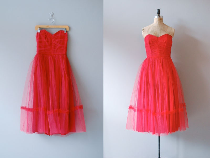 1950s dress / 50s party dress / Fools Rush In