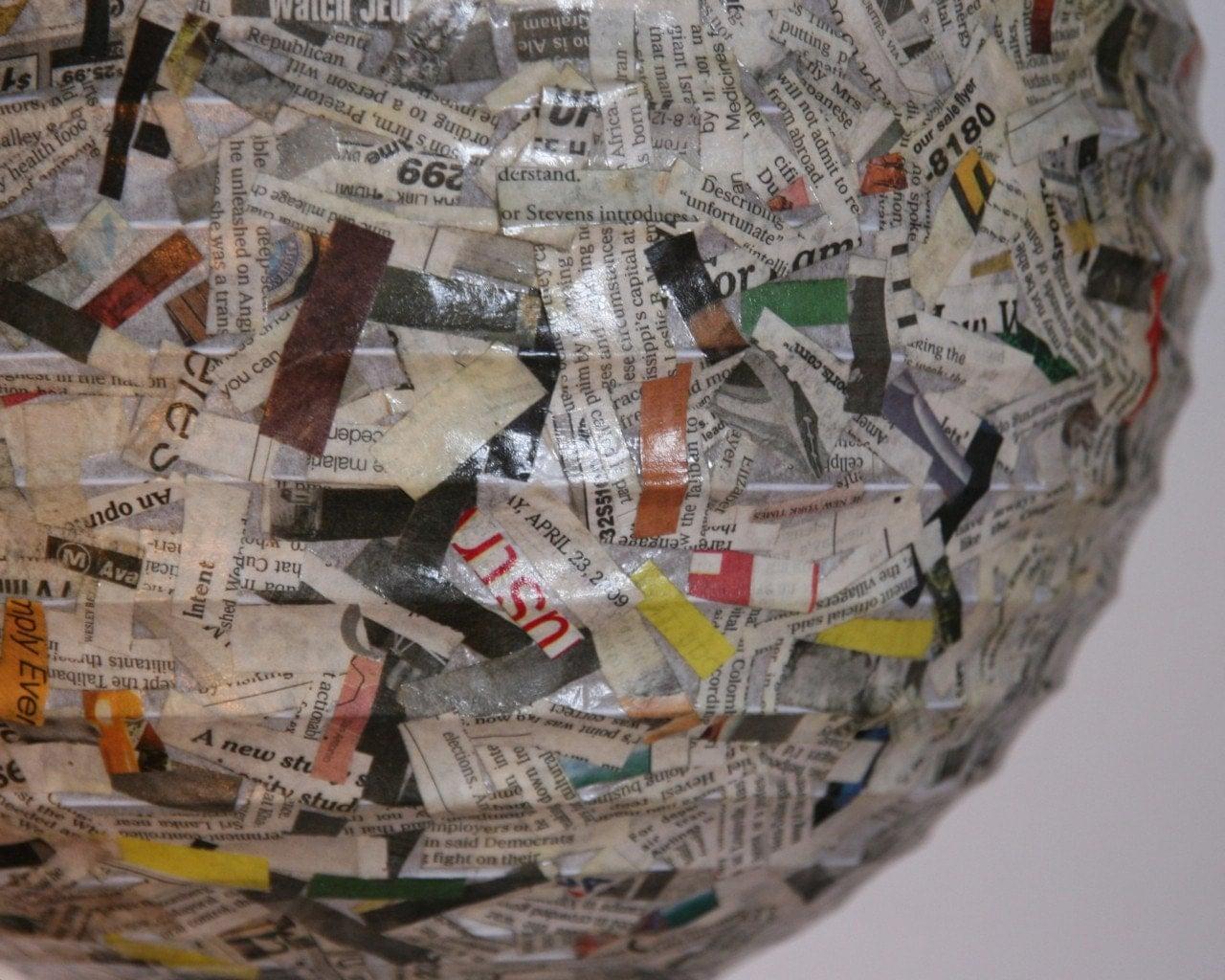 Измельченный Газета Подвеска бумажный фонарь - Тень только