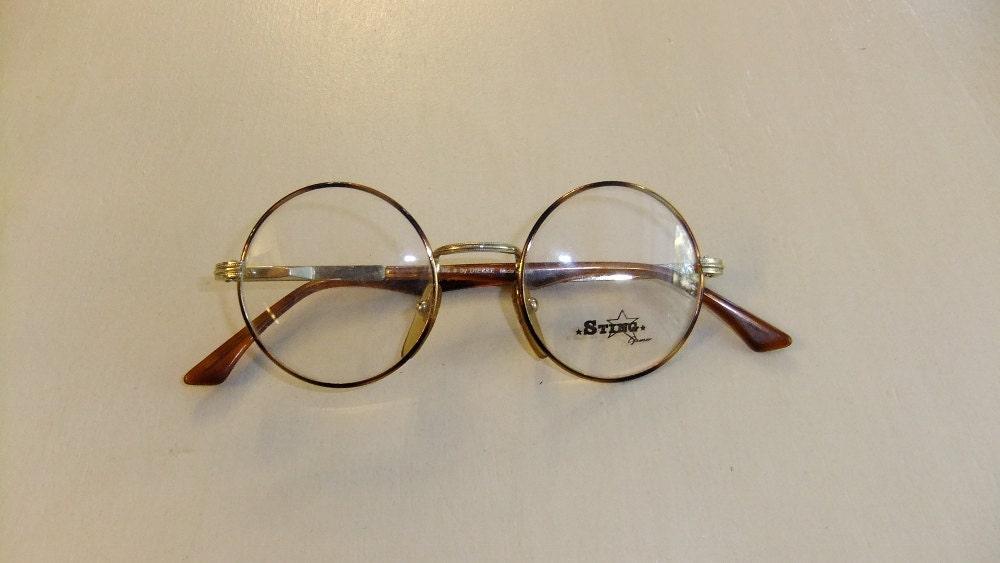 Vintage Sting Italian Round Eyeglass Frames by Tomyres on Etsy