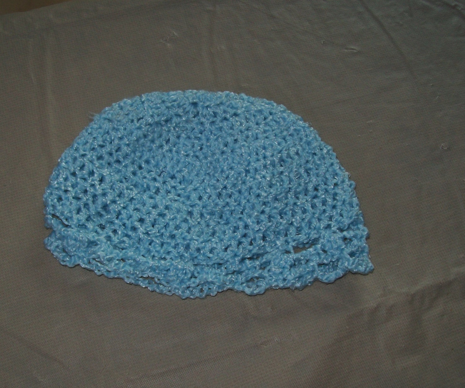 Baby Hat With Scalloped Edging, Blue Color - amydscrochet