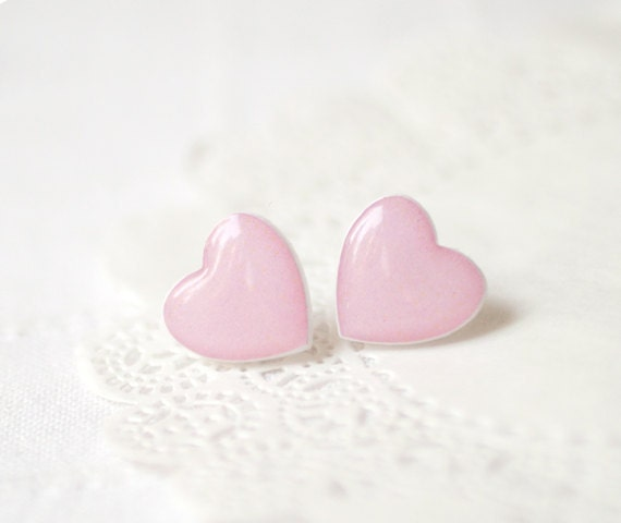 Pink Heart earrings (E043)