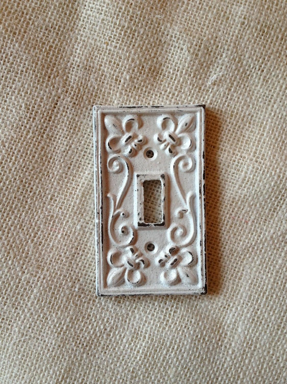 Items Similar To Single Light Switch Cover Plate Fleur De