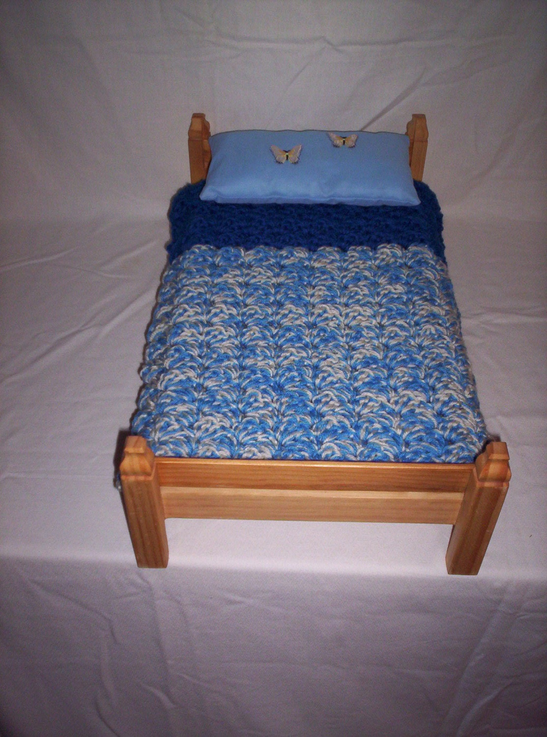 Marvelous photograph of Handmade Doll Bed fits 15 to 18 inch dolls or by mtbowles60 with #8F5A3C color and 1113x1500 pixels