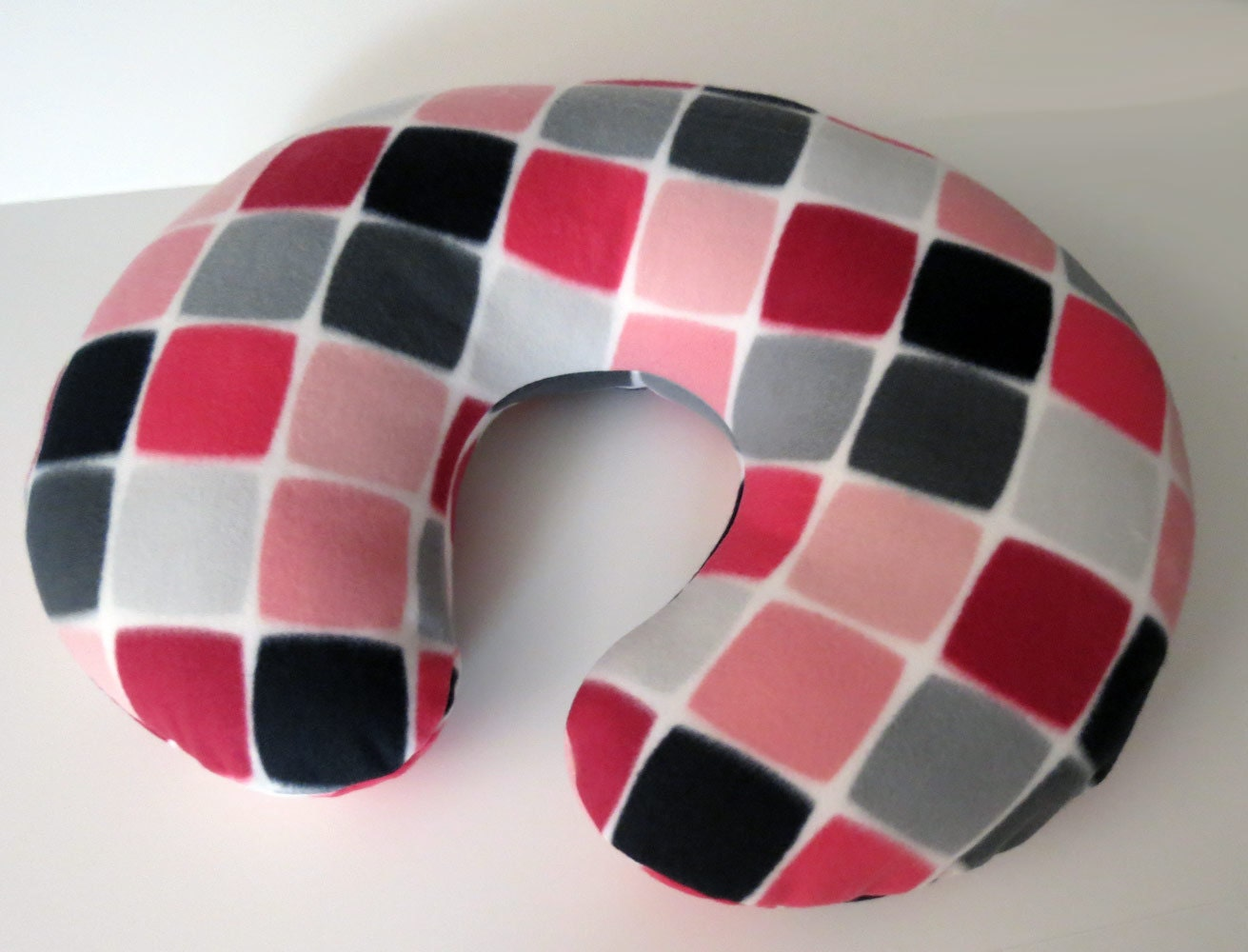 Items Similar To Geometric Pink Grey And Black Baby Boppy