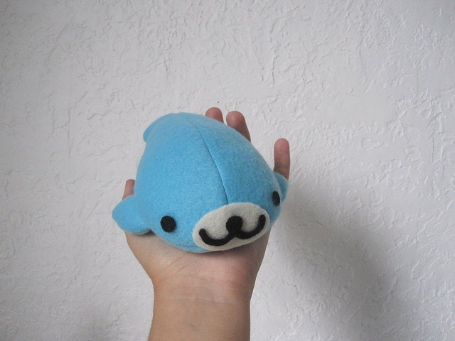 Blue Mamegoma Seal Plush Fleece