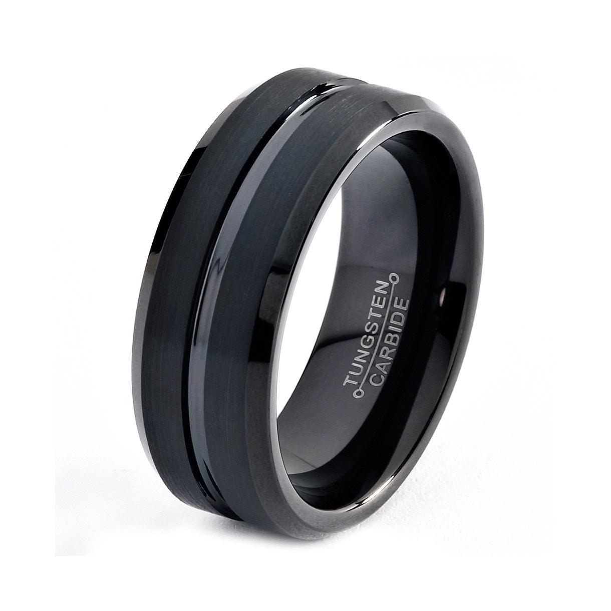 Rings For Men Black Tungsten Rings For Men Camo Black