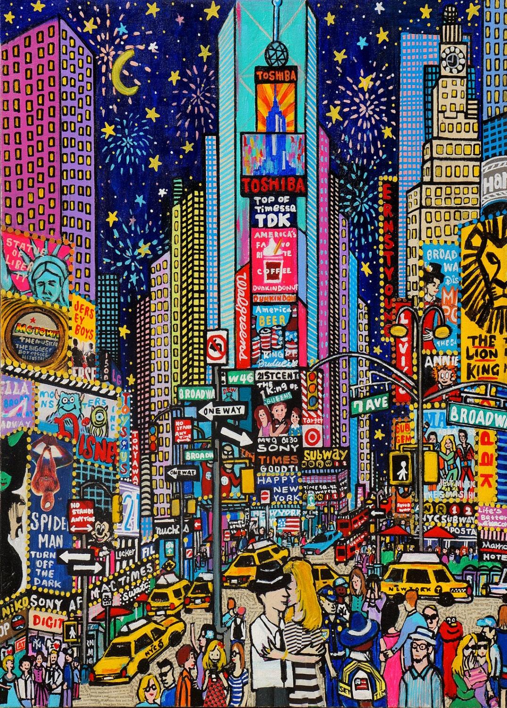 HAPPY NEW YORK - pinkypilotsart