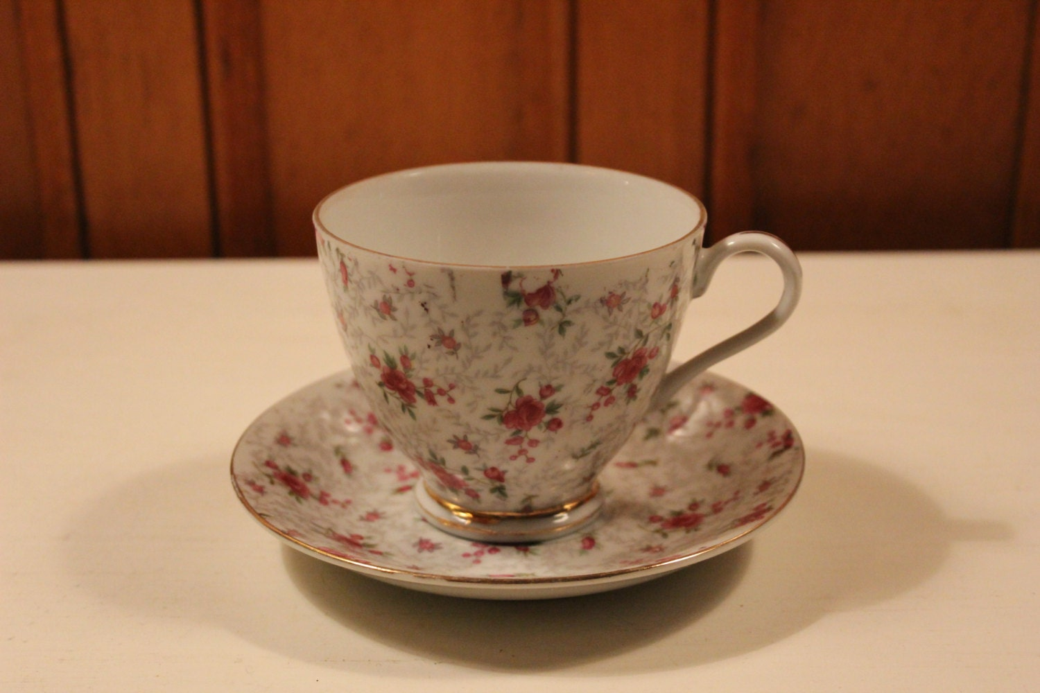 Large Vintage Chintz Coffee Tea Cup And By