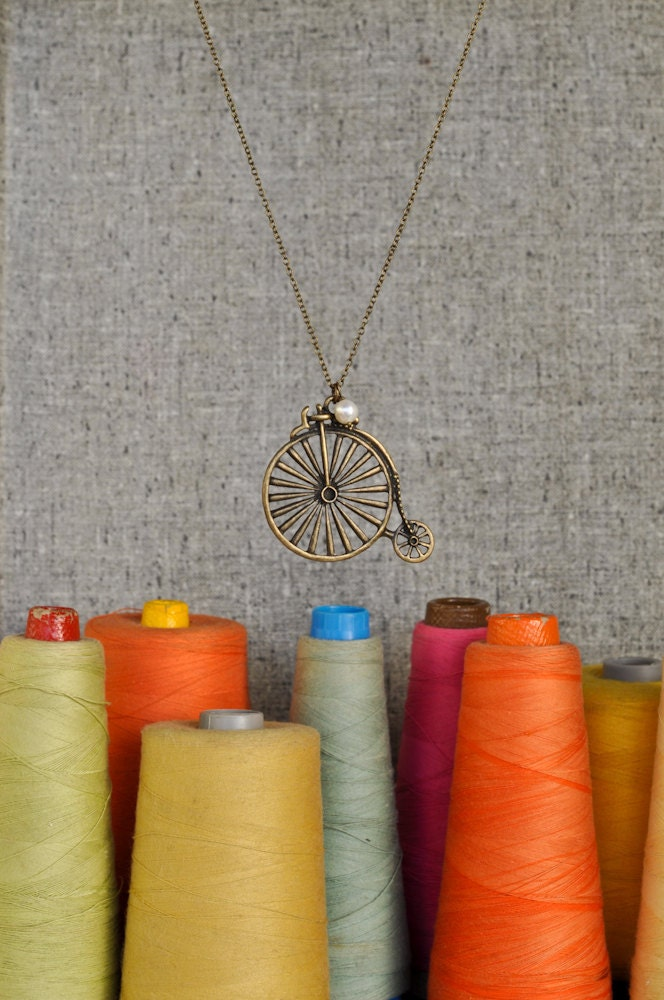 Penny Farthing Bicycle Necklace - Roberta