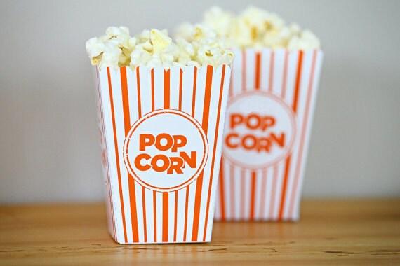 Choose Your Color - Mini Popcorn Box Party Favor Printable  - DIY Make Your Own Party Pop Corn Box by daintzy - daintzy