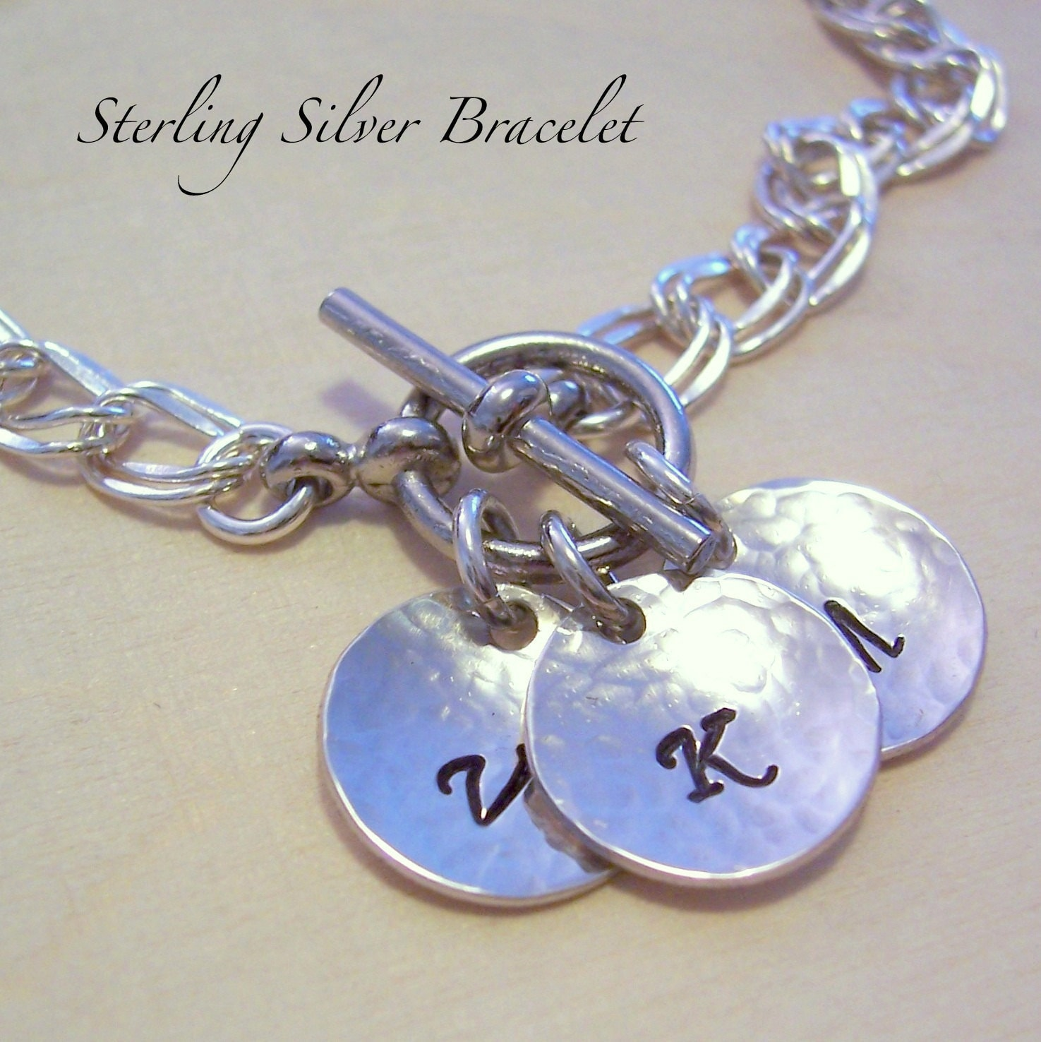 personalized grandmother charm bracelet by madisoncraftstudio