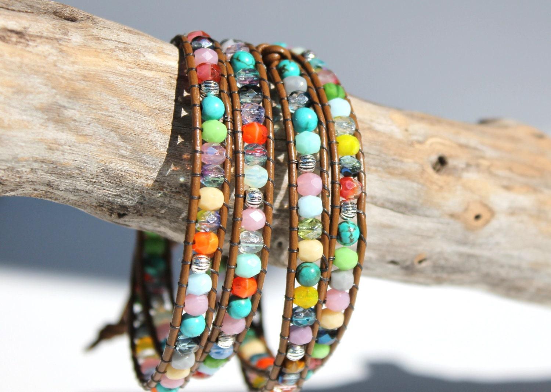 Chan Luu Inspired Leather Wrap Bracelet