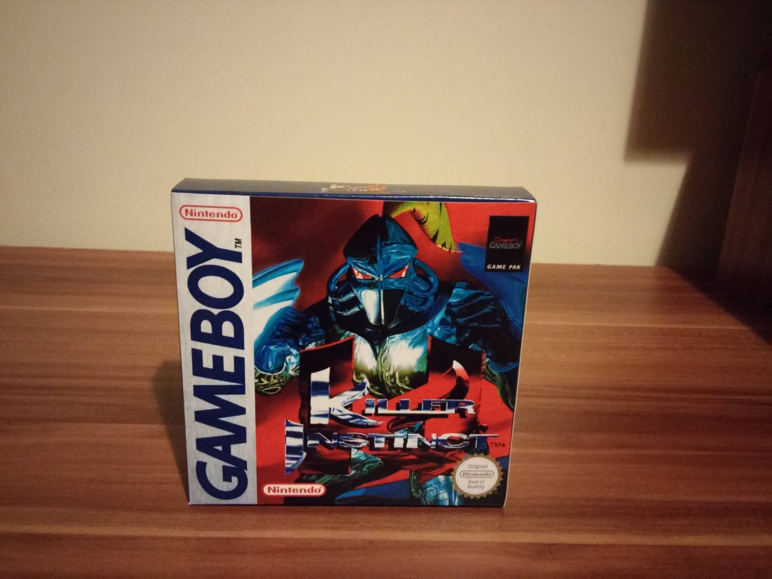Game Boy Killer Instinct    Pal or NTSC Repro Box with Insert NO GAME included