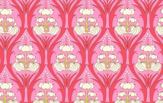 Amy Butler Fabric Soul Blossoms fat Quarter FQ Passion Lily in Cerise Pink