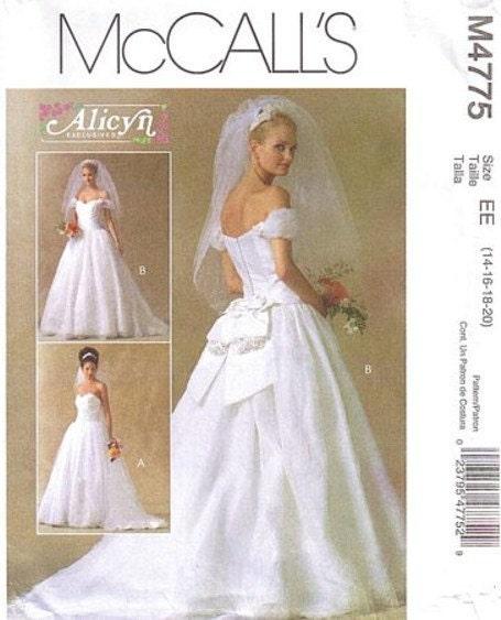 Wedding Dress Plus Size Patterns : Lovely strapless wedding gown plus size pattern alicyn mccall s