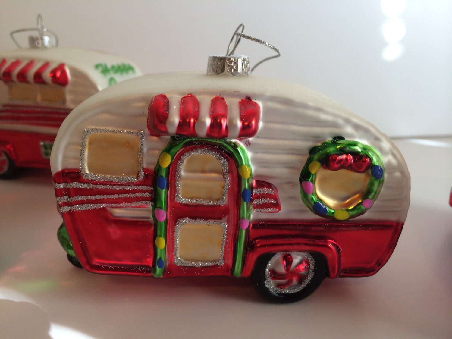 Popular items for happy camper on etsy for Airstream christmas decoration
