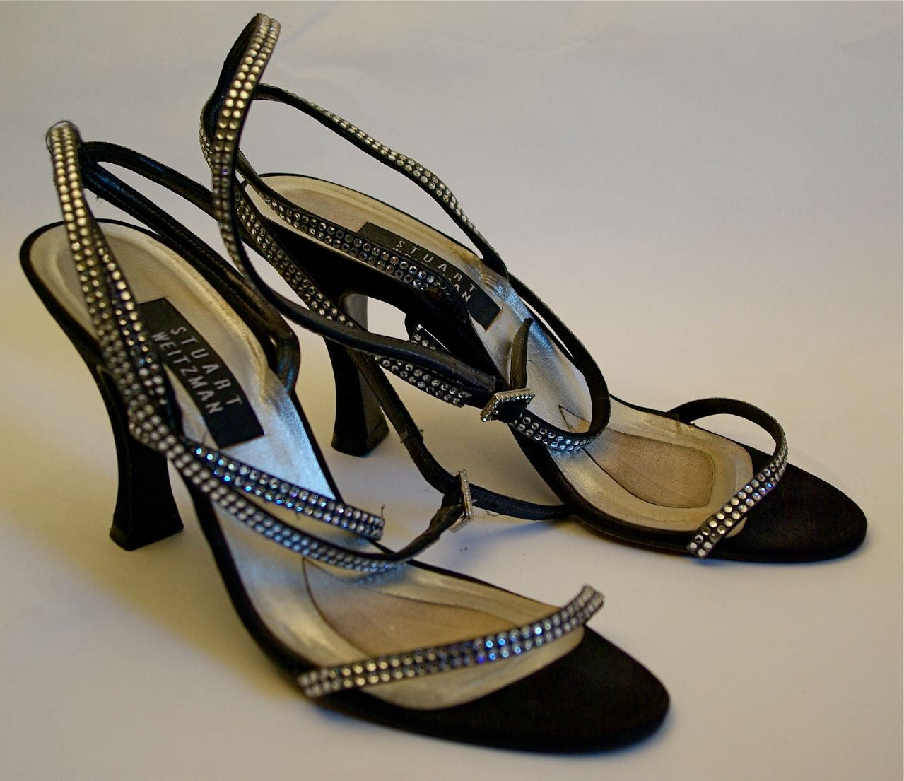 Stuart Weitzman rhinestone strappy sandals - kickshaw