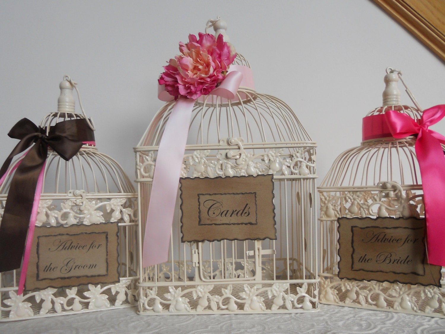 Birdcage For Wedding Gift Cards : Items similar to Birdcage Wedding Card Holder / Card Box on Etsy