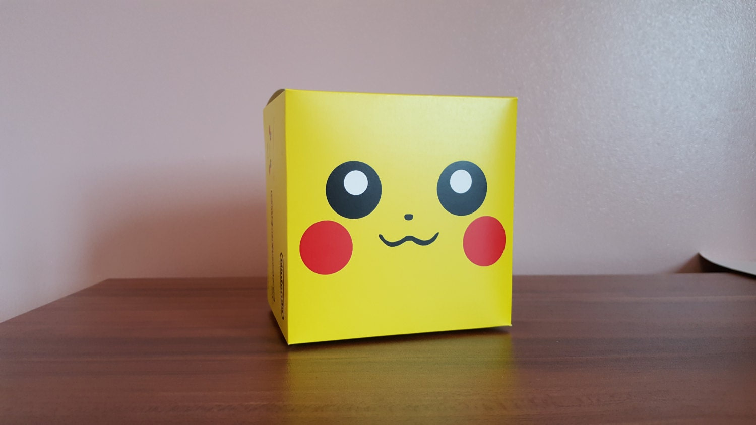 Game Boy Advance SP Console Box  Custom Pikachu Edition Repo Box Only