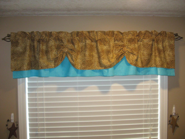Valance Window Curtain Swagged Swag Custom By Countryruffles