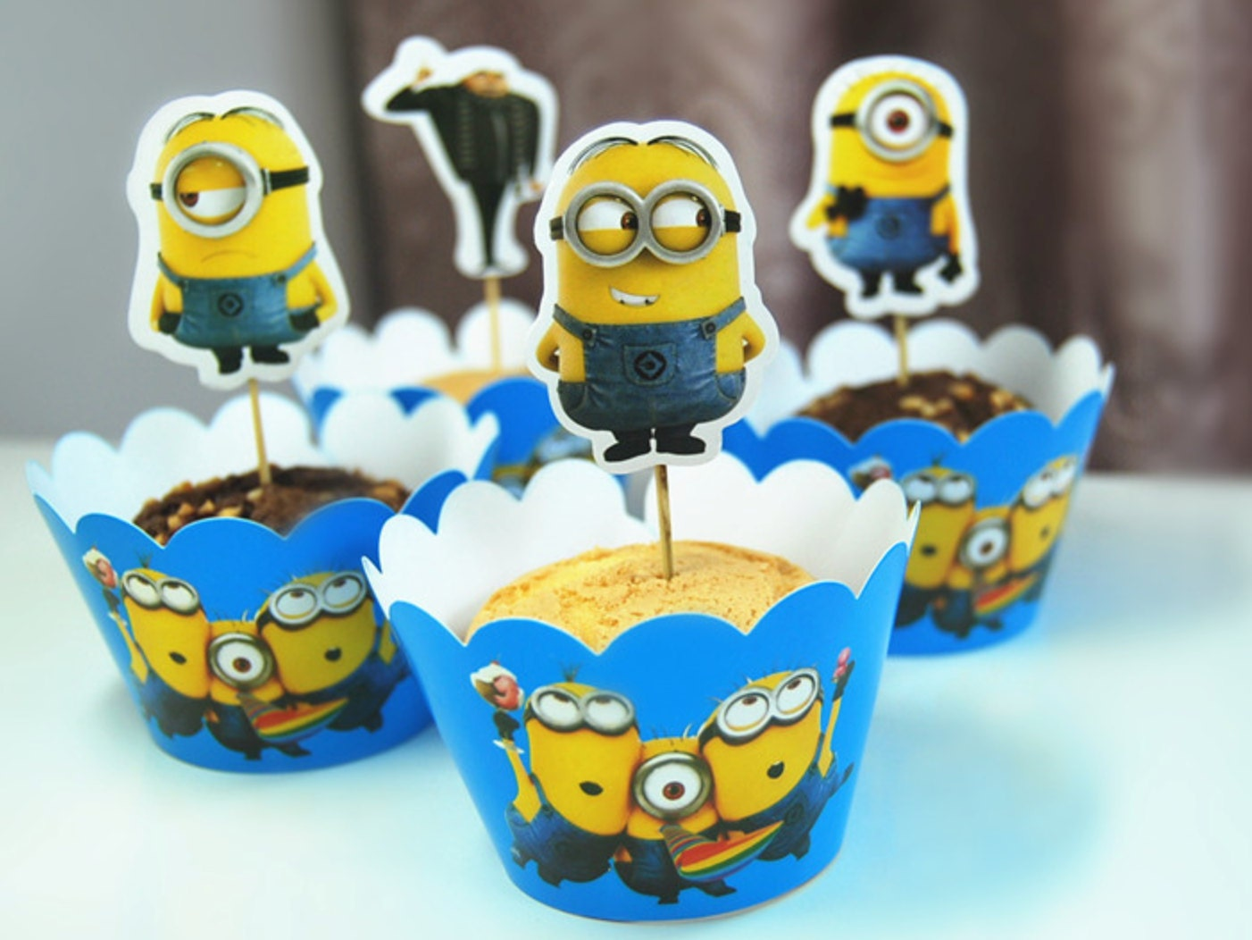 Minion cupcake wrappers