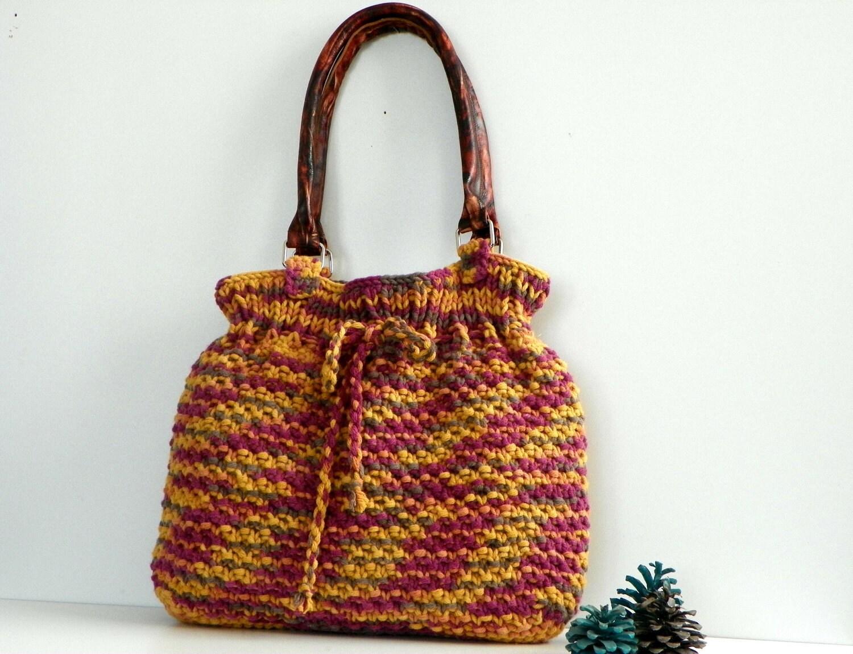 NzLbags Новый - Оттенки цвета Вязание сумка, сумка - сумка, кожаный ремешок Nr-0210