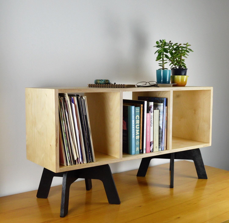 VINYL RECORD SHELVES lp storage retro bookcase media console tv stand