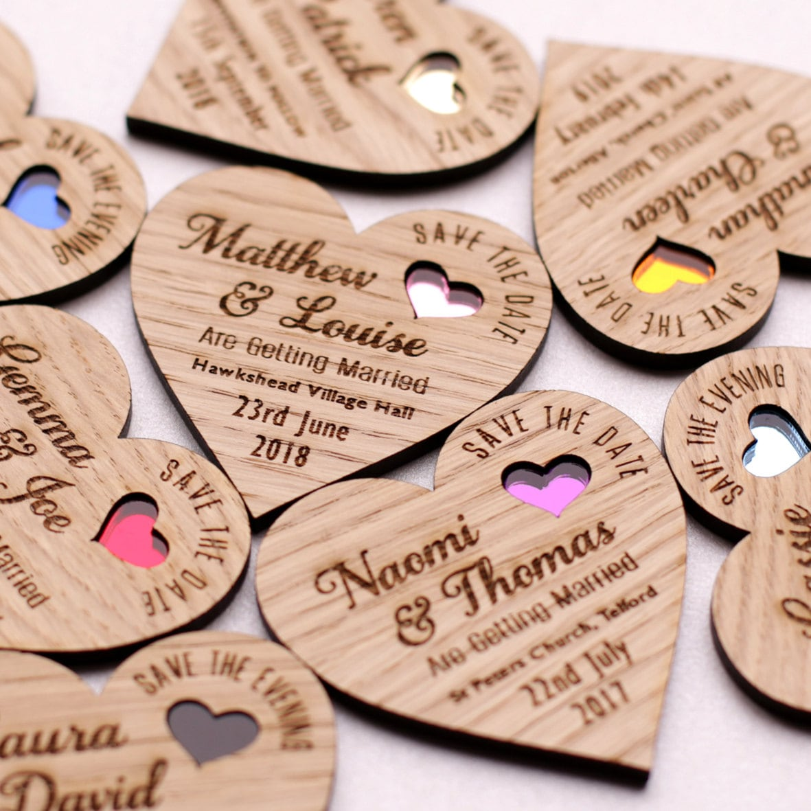Save the date magnet Wood save the date Rustic Wooden save the date Save the date heart Coloured heart save the date Wedding magnet