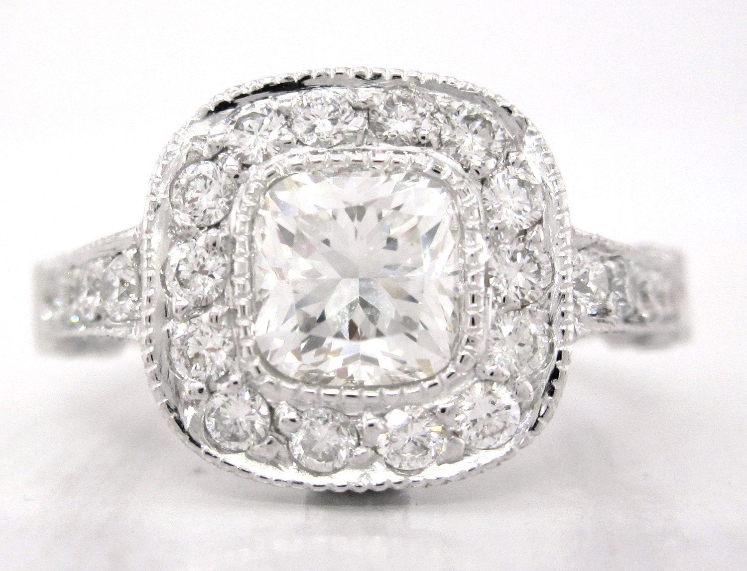 Cushion Cut Diamond Cushion Cut Diamond Tiffany Setting