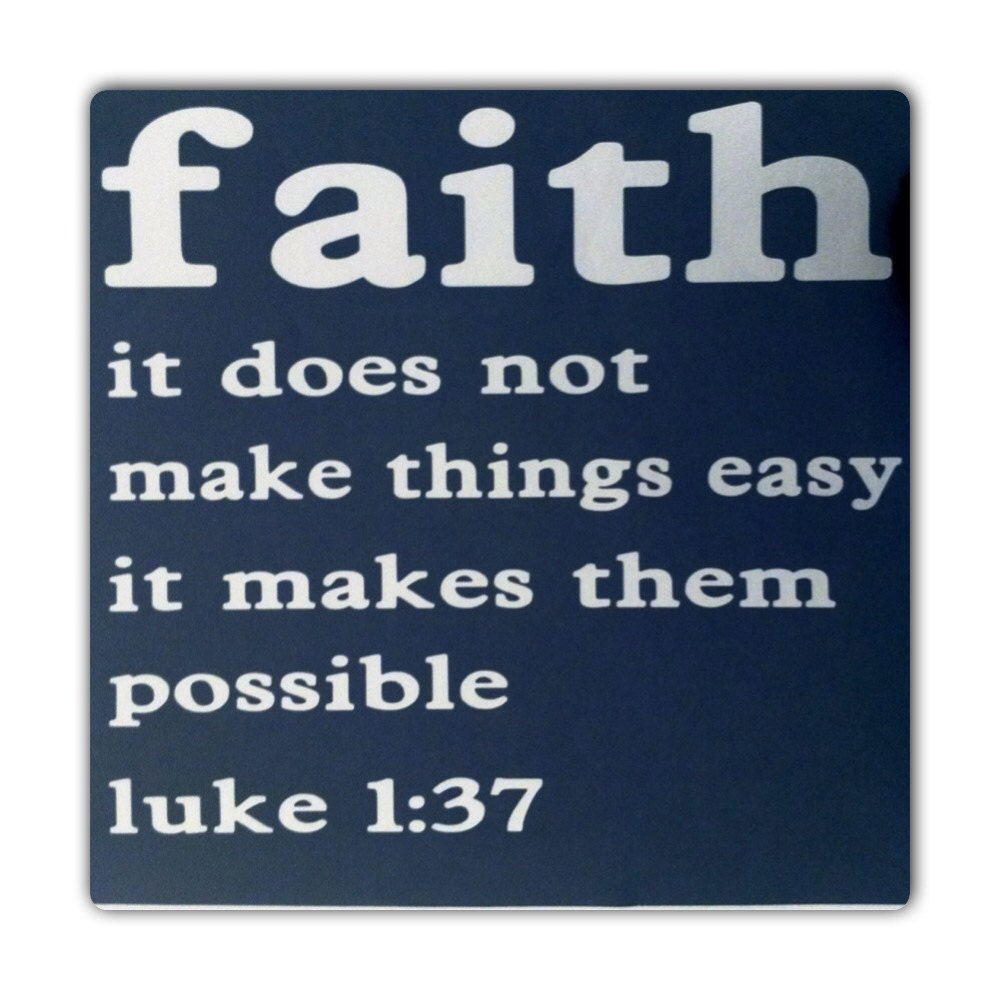 bible verse luke 1 37 religious quote by decalsenfolie on etsy